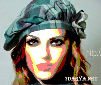 الگو کلاه کج پارچه ای دخترانه2