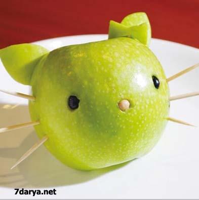 آموزش میوه آرایی سیب