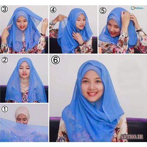آموزش بستن شال و روسری دخترانه5