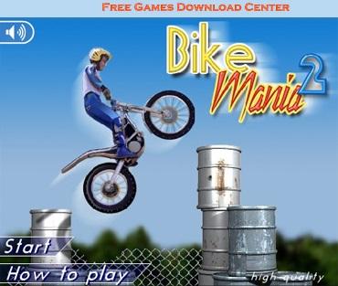 بازی آنلاین و مهیج موتور پرشی Bike Mania 2