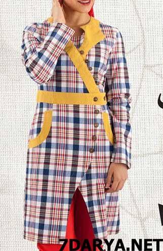 مدل مانتو چهارخونه تابستانی
