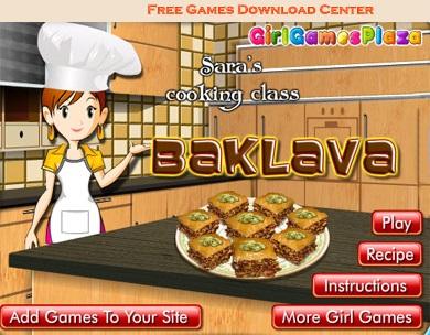 بازی آنلاین و سرگرم کننده ی باقلوا پزی Baklava