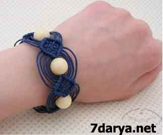 آموزش بافت دستبند دخترانه