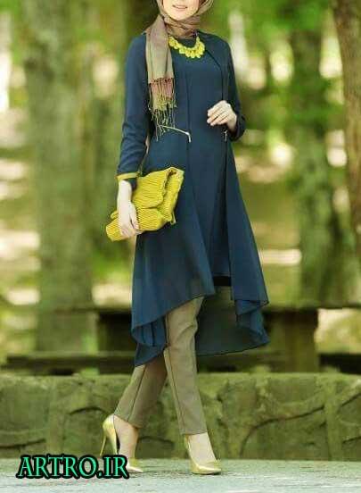مدل مانتو بهاری و تابستانی دخترانه 7