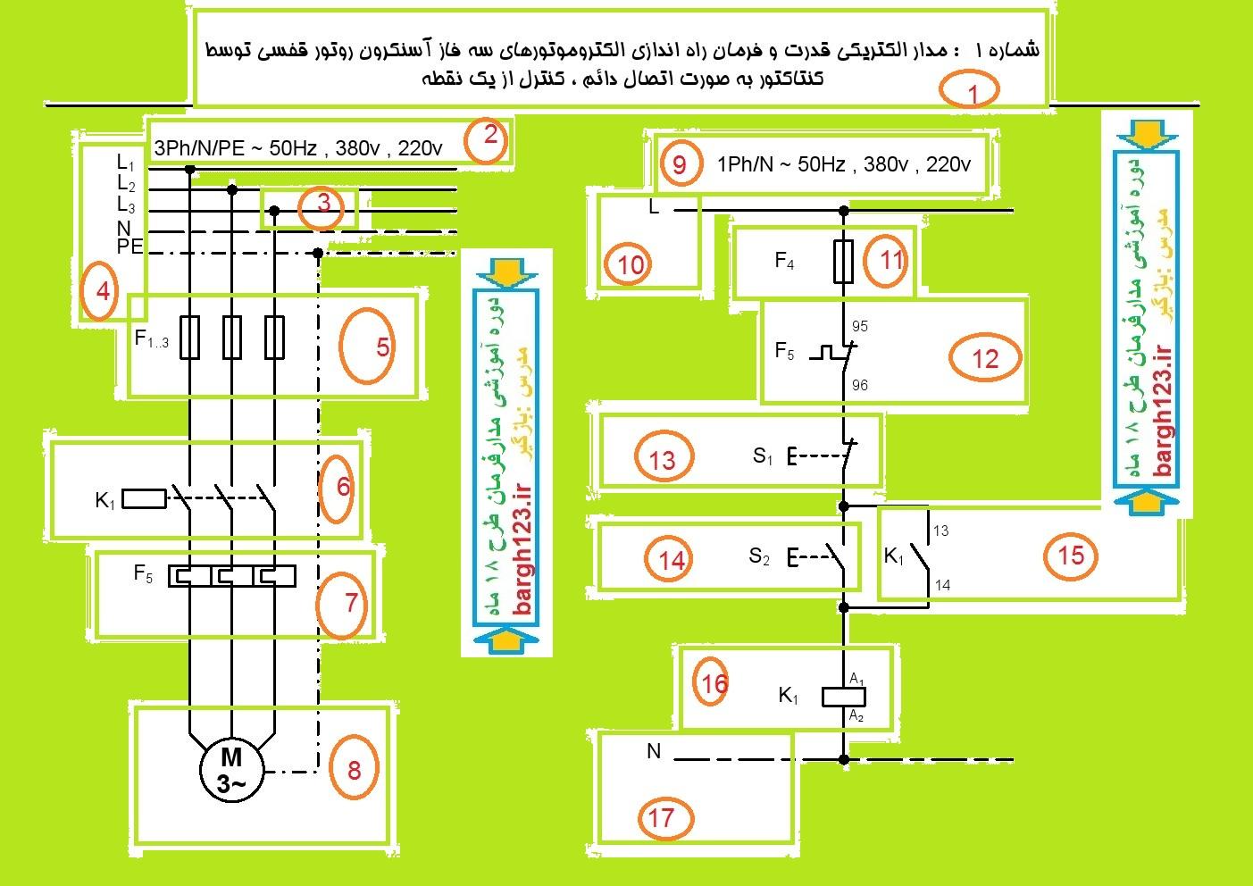 مدار فرمان وقدرت برق صنعتی
