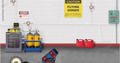 بازی مهیج فلش پرتاب گوی Fly Gonzo