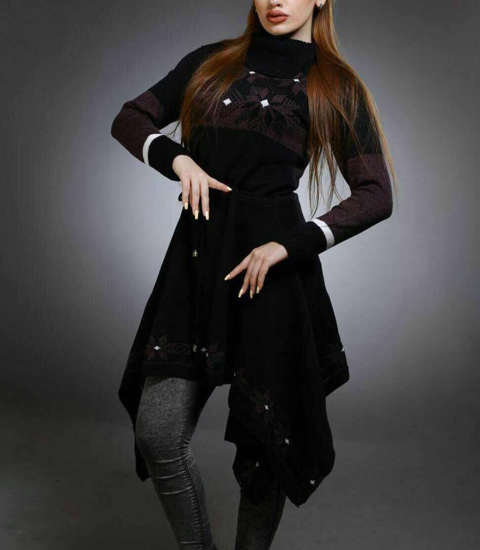 مدل مانتو بافتنی بلند زنانه,