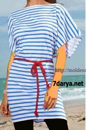 تونیک تابستانی دخترانه با الگو