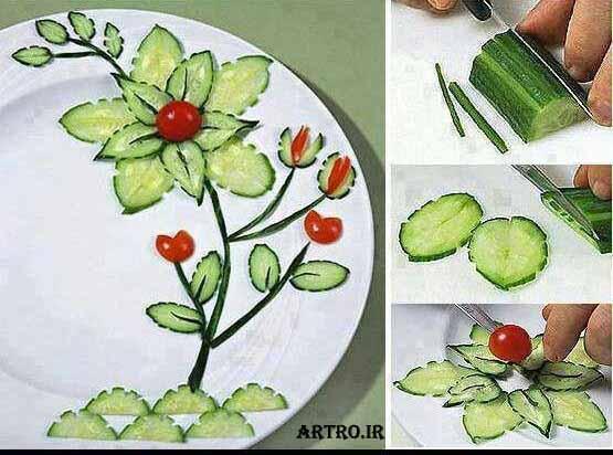 آموزش تصویری سبزی آرایی