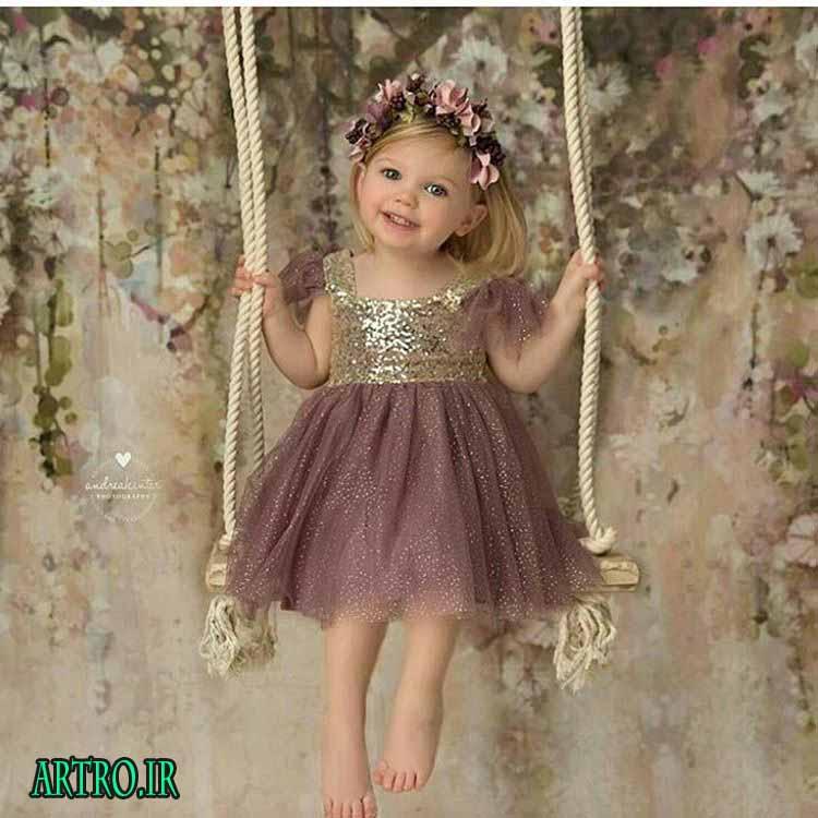 مدل لباس بچه گانه مجلسی دخترانه