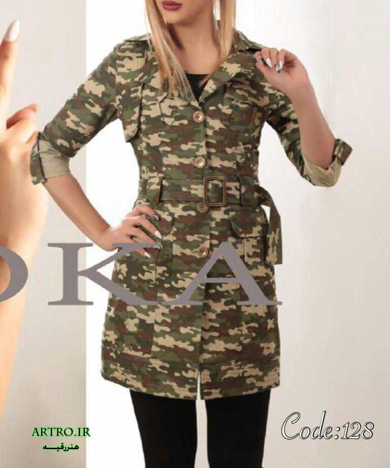 مدل مانتو ارتشی دخترانه 2017