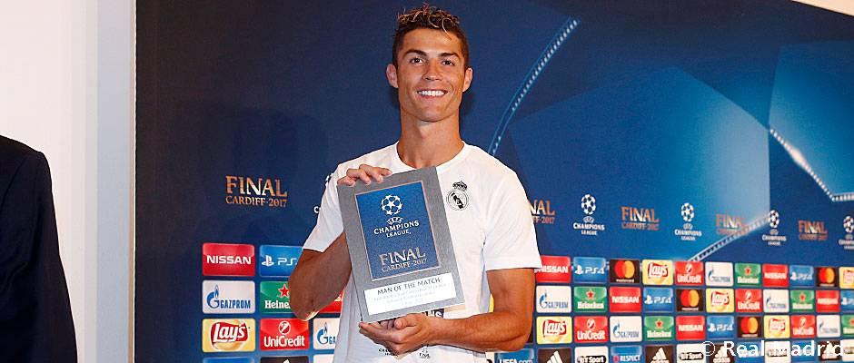 کریستیانو رونالدو بهترین بازیکن فینال لیگ قهرمانان اروپا