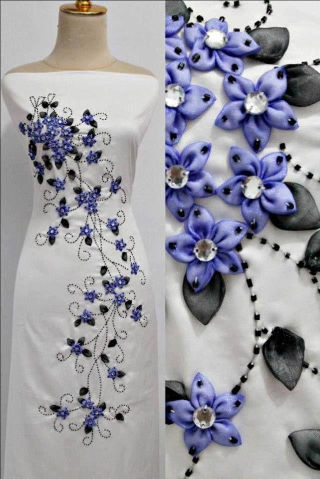 مدل تزیین لباس مجلسی