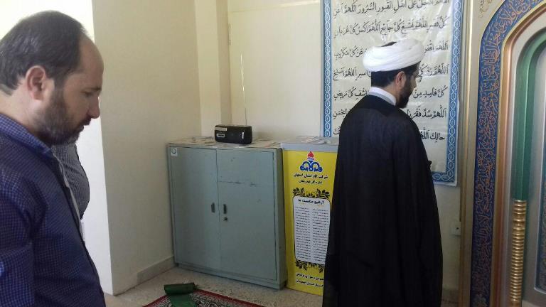 سخنرانی و اقامه نماز جماعت در ادره گاز بخش قهدریجان توسط امام جمعه محترم شهر