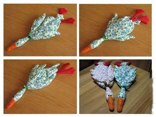آموزش دوخت عروسک پارچه ای اردک