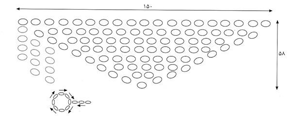 نقشه بافت شال با فلاب بافی
