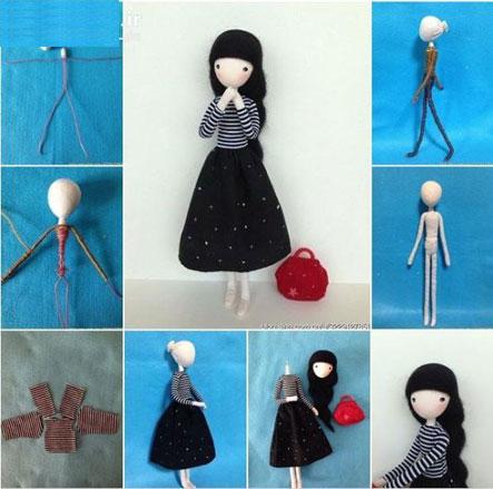 آموزش ساخت عروسک دختر با سیم1