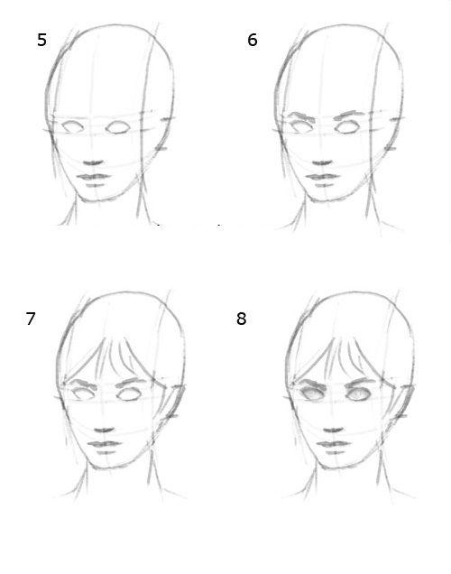 آموزش کشیدن چهره با مداد4
