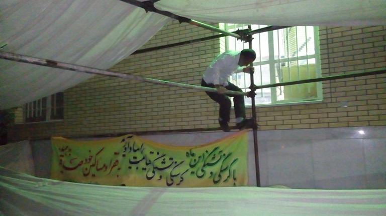 گسترش فصا بیرون مصلی در دومین نماز جمعه ماه مبارک