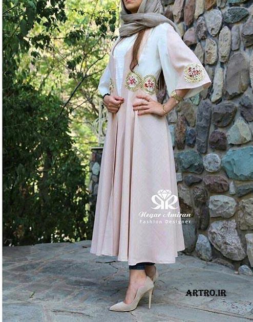 مدل مانتو بلند ایرانی 2017,
