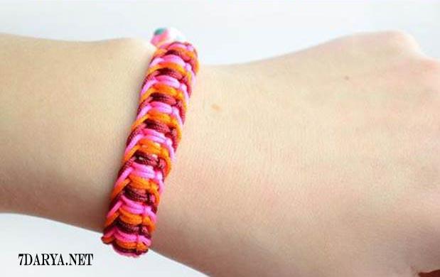 نحوه ی بافتن دستبند