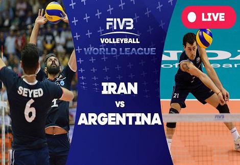 دانلود خلاصه بازی والیبال ایران آرژانتین 21 خرداد 96 لیگ جهانی والیبال 2017