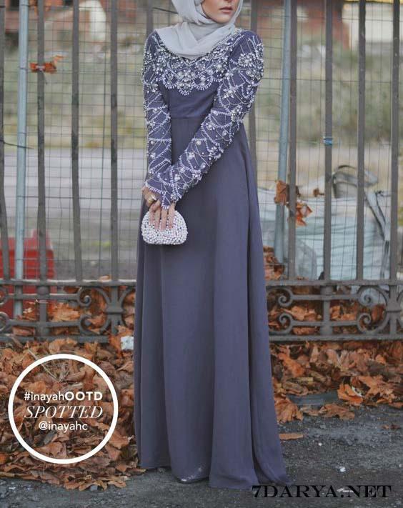 مدل لباس مجلسی زنانه با پارچه گیپور,