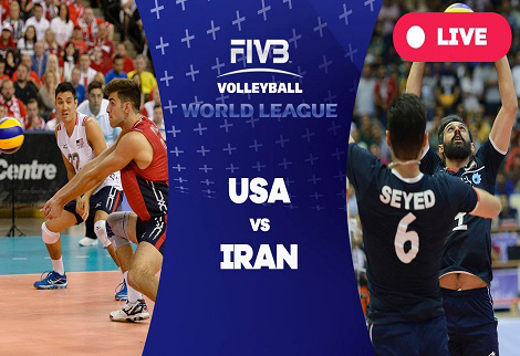 دانلود خلاصه بازی والیبال ایران آمریکا 25 خرداد 96 لیگ جهانی والیبال 2017