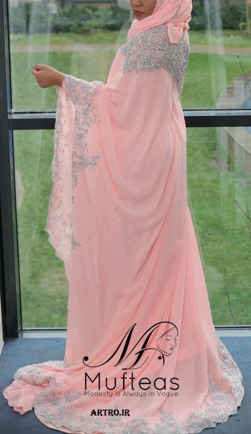 عکس مدل لباس عروس محجبه 96