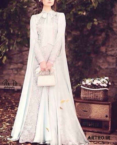 انواع مدل لباس عروس محجبه,