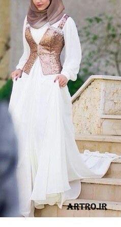مدل لباس عروس محجبه جدید,