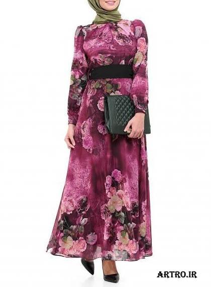 مدل لباس مجلسی زنانه با پارچه حریر2018