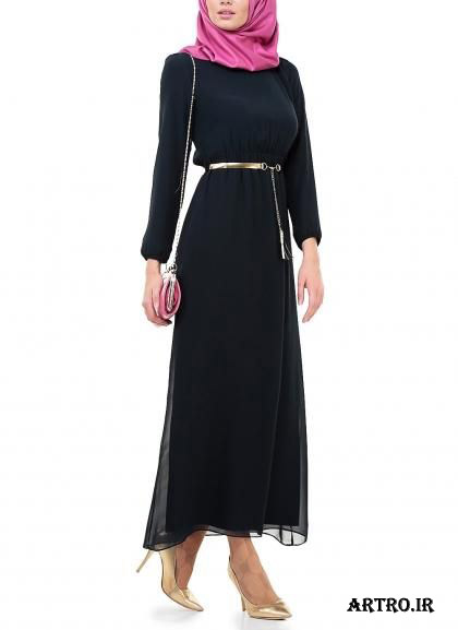 مدل لباس مجلسی حریر بلند دخترانه