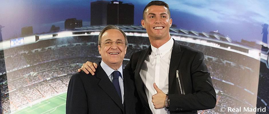 فلورنتینو پرز: رونالدو بازیکن رئال مادرید هست و خواهد بود