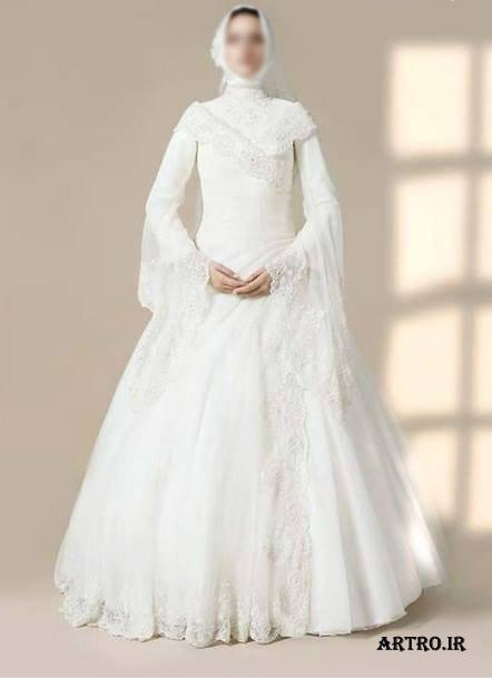 مدل لباس عروس پوشیده 96,