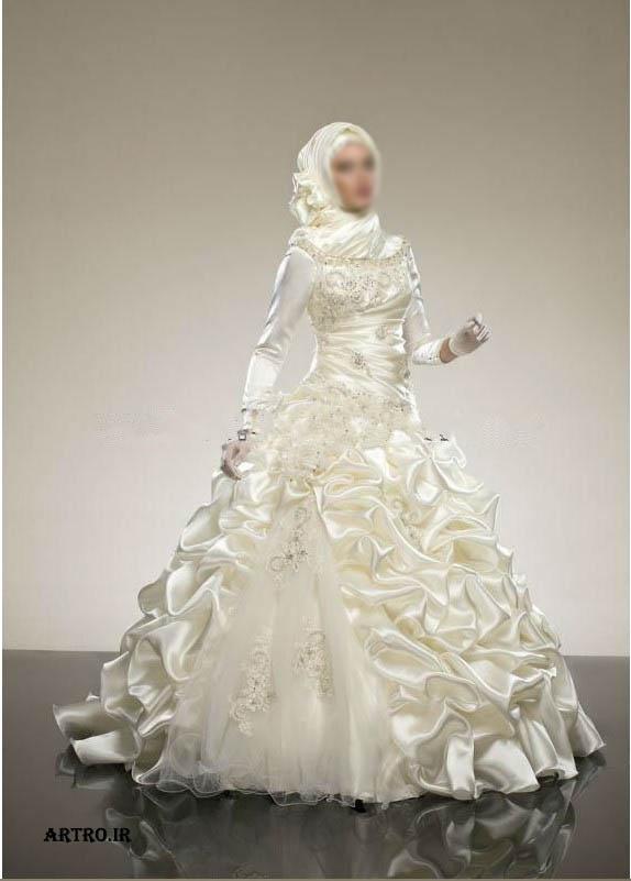 مدل لباس عروس پوشیده و شیک,