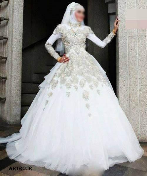 مدل لباس عروس پوشیده 2017,