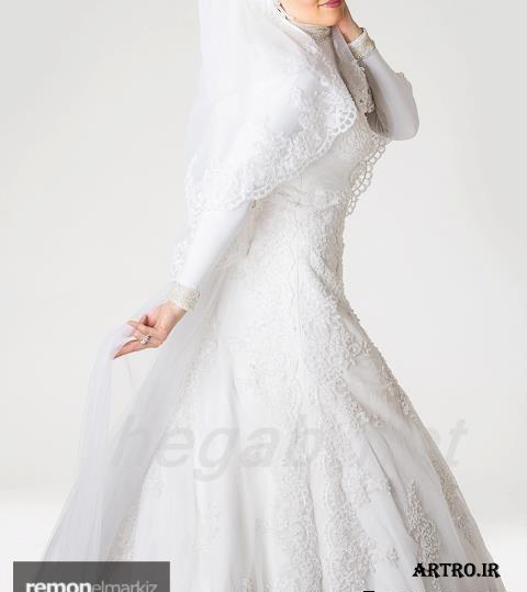 مدل لباس عروس با حجاب جدید,