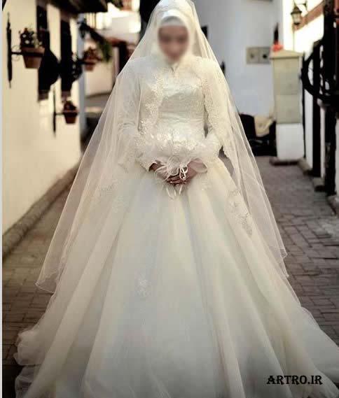 مدل لباس عروس باحجاب 96,