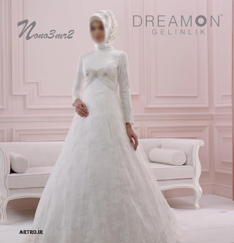 مدل لباس عروس باحجاب سال 96,