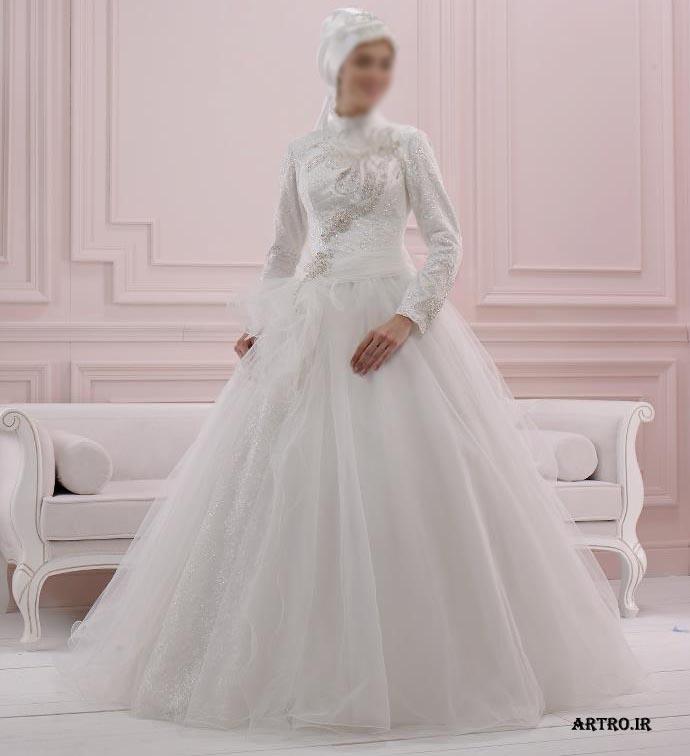 مدل لباس عروس باحجاب 2017,