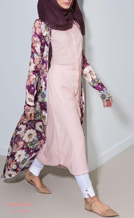 مدل مانتو بلند تابستانی دخترانه 2017
