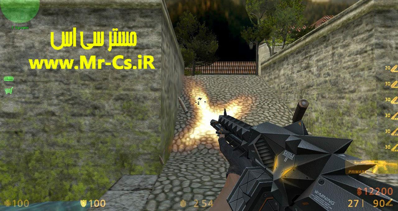 دانلود اسکین حرفه ای Ak47 | Crow برای سی اس 1.6