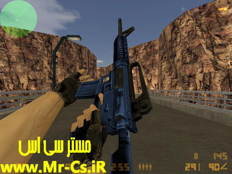 دانلود اسکین M4a1 | Blue برای سی اس 1.6