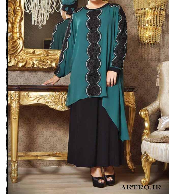 مدل لباس مجلسی زنانه سایز بزرگ 2017,