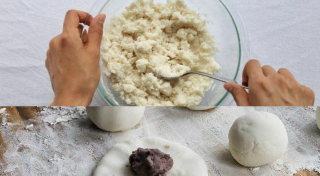 طرز تهیه کیک برنجی با مغز توت فرنگی