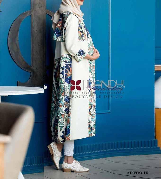مدل مانتو بلند دخترانه 2019