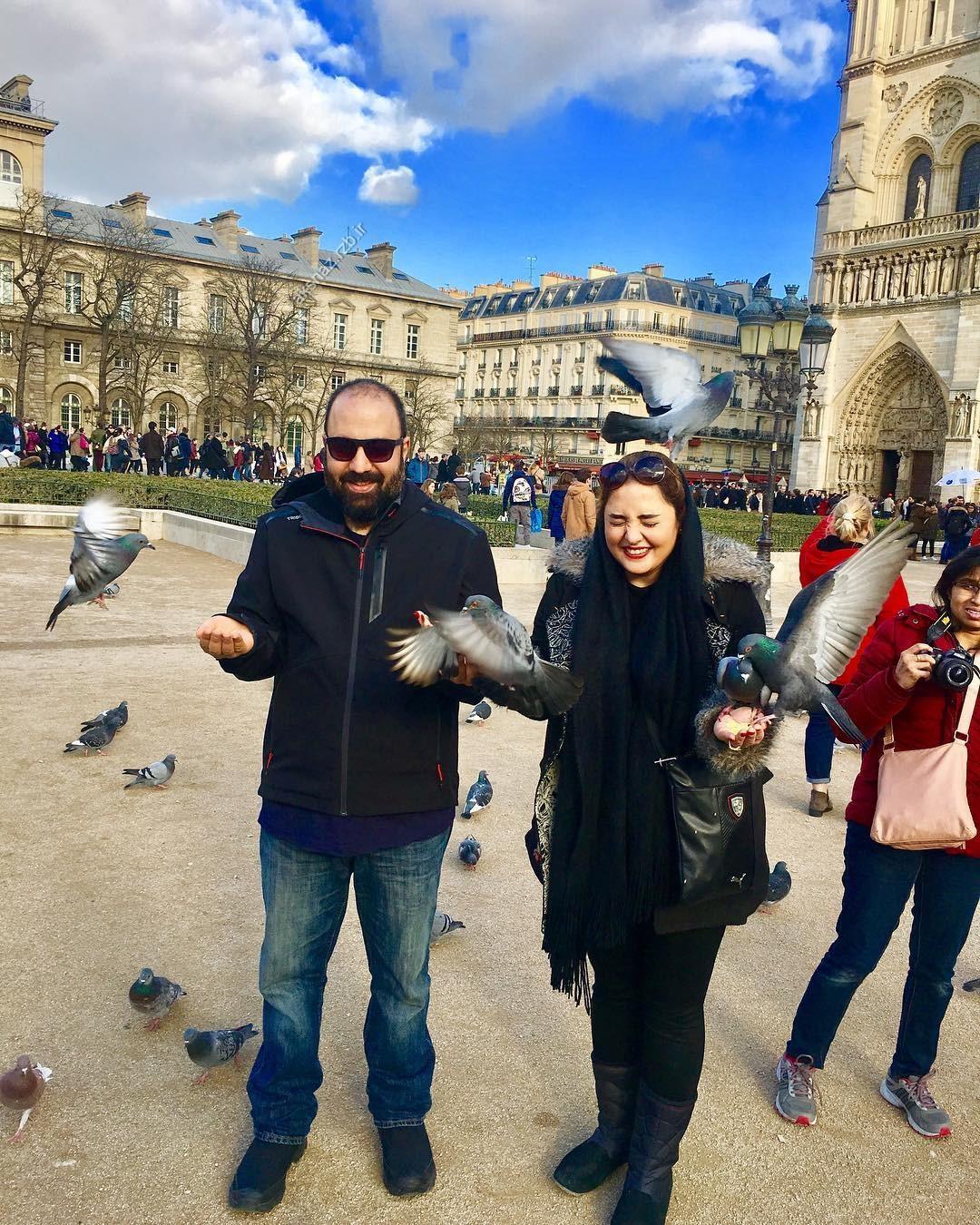 عکس های جدید از نرگس محمدی و همسرش علی اوجی