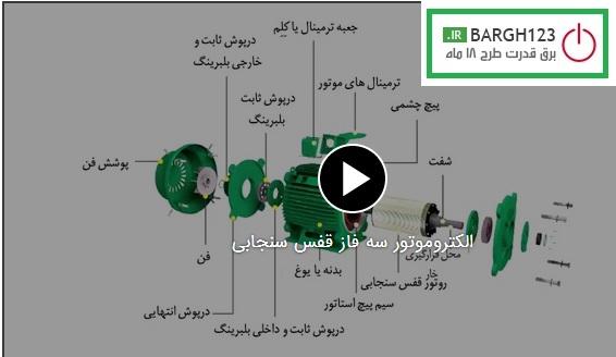 فیلم آموزشی معرفی الکتروموتور سه فاز قفس سنجابی