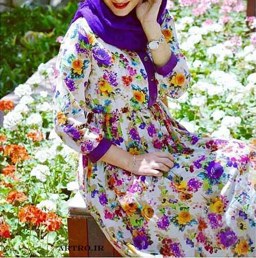 مدل مانتو نخی تابستانی گلدار جدید